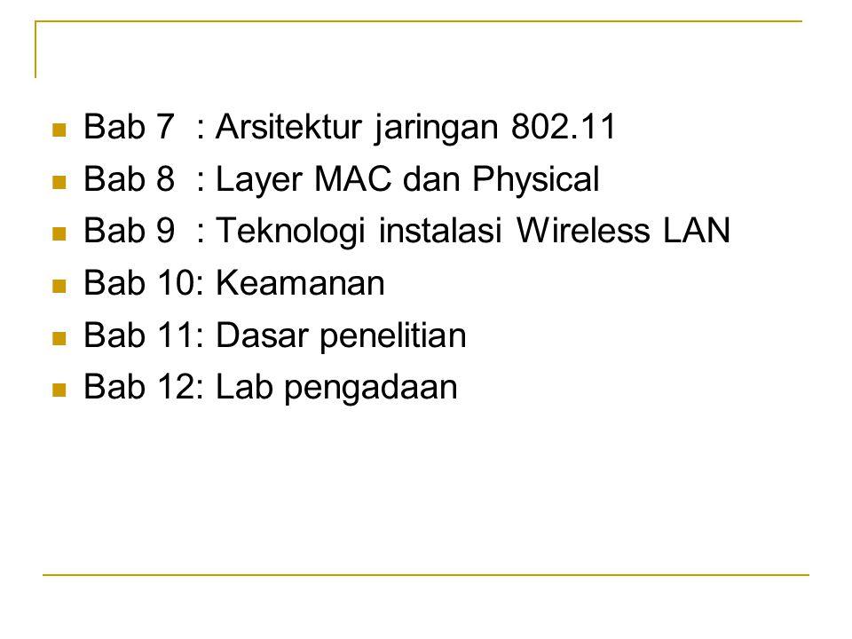 Pengelolaan Keamanan Wireless Solusi-solusi yang tersedia.