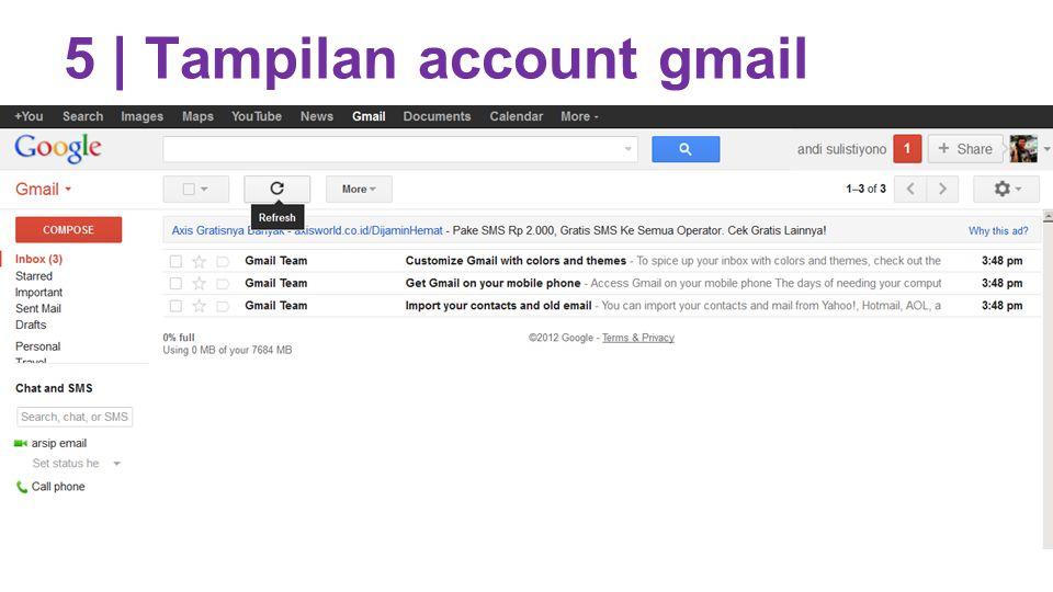 5 | Tampilan account gmail