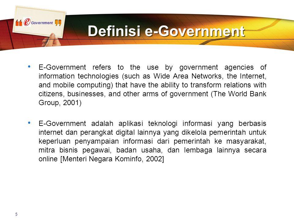 Government Kontribusi thd Perkembangan e-Gov Indonesia* Makro Kontribusi Mikro * Belum dibuktikan oleh riset ada hubungan langsung sebab-akibat