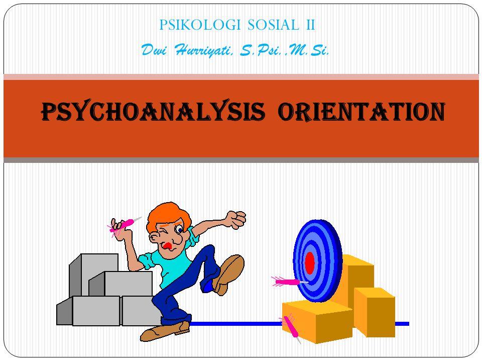 PSIKOLOGI SOSIAL II Dwi Hurriyati, S.Psi.,M.Si. PSYCHOANALYSIS ORIENTATION