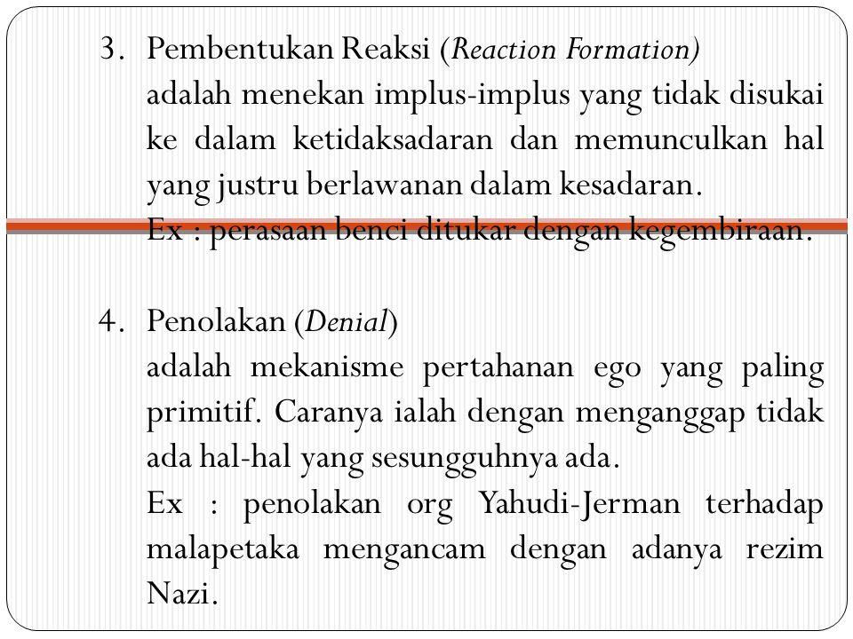 5.Sublimasi adalah deseksualisasi implus-implus seksual dari id.