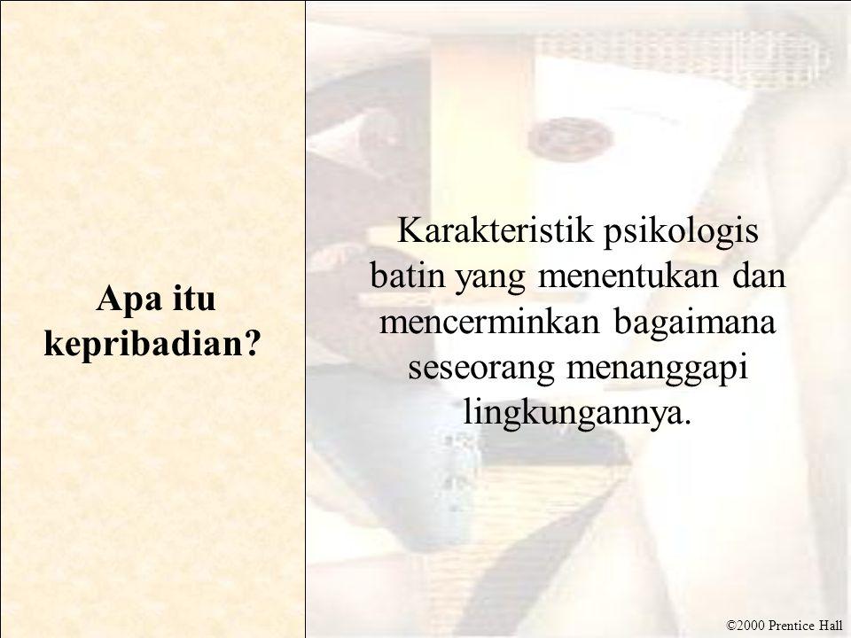 ©2000 Prentice Hall Kepribadian yang agresif Salah satu dari tiga jenis kepribadian yang diidentifikasi oleh Karen Horney.
