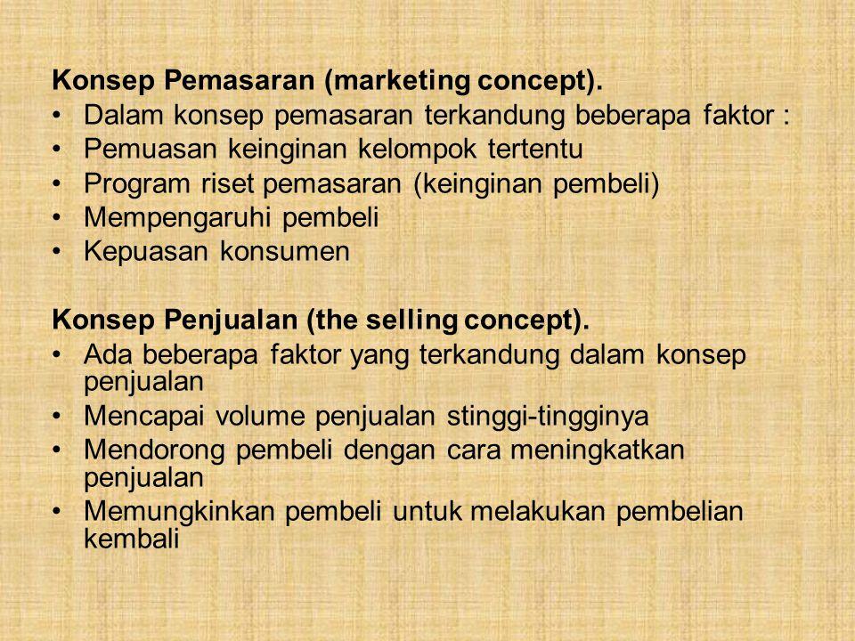 Segmentasi Pasar : Yaitu sebagai suatu proses membagi pasar menjadi irisan-irisan (bagian- bagian) konsumen yang khas yang mempunyai kebutuhan atau sifat yang sama dan kemudian memilih satu atau lebih yang akan dijadikan sasaran bauran pemasaran yang berbeda.