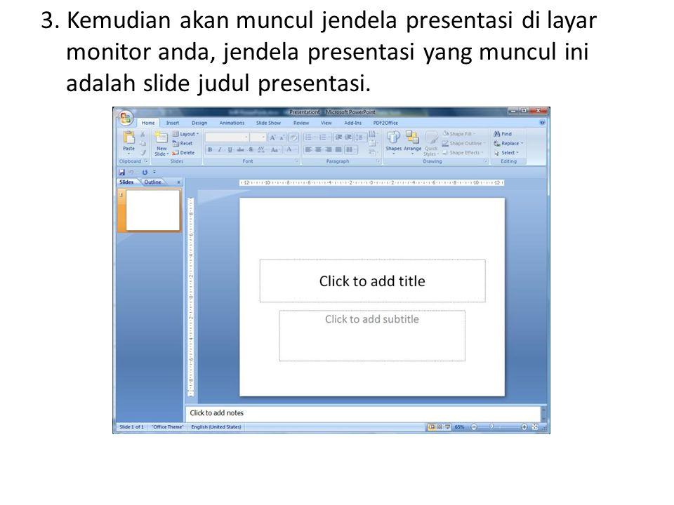 2. Kemudian ketikkan isi slide baru dengan isi sebagai berikut: