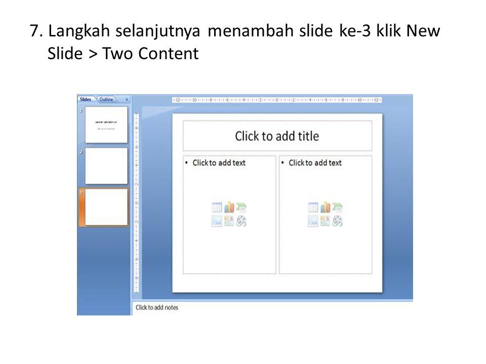 3.Kemudian kita akan memperbanyak slide yakni slide 4 akan kita copy.