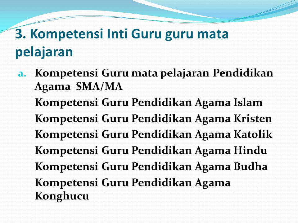 lanjutan b.Kompetensi Guru mata pelajaran PKn c. Kompetensi Guru mata pelajaran Seni Budaya d.