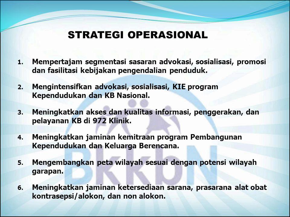 8.Peningkatan komitmen, strategi, penggerakan, pelayanan, pembinaan dan pelaporan KB Swasta. 9.Peningkatan komitmen Stakeholder dan keluarga terhadap
