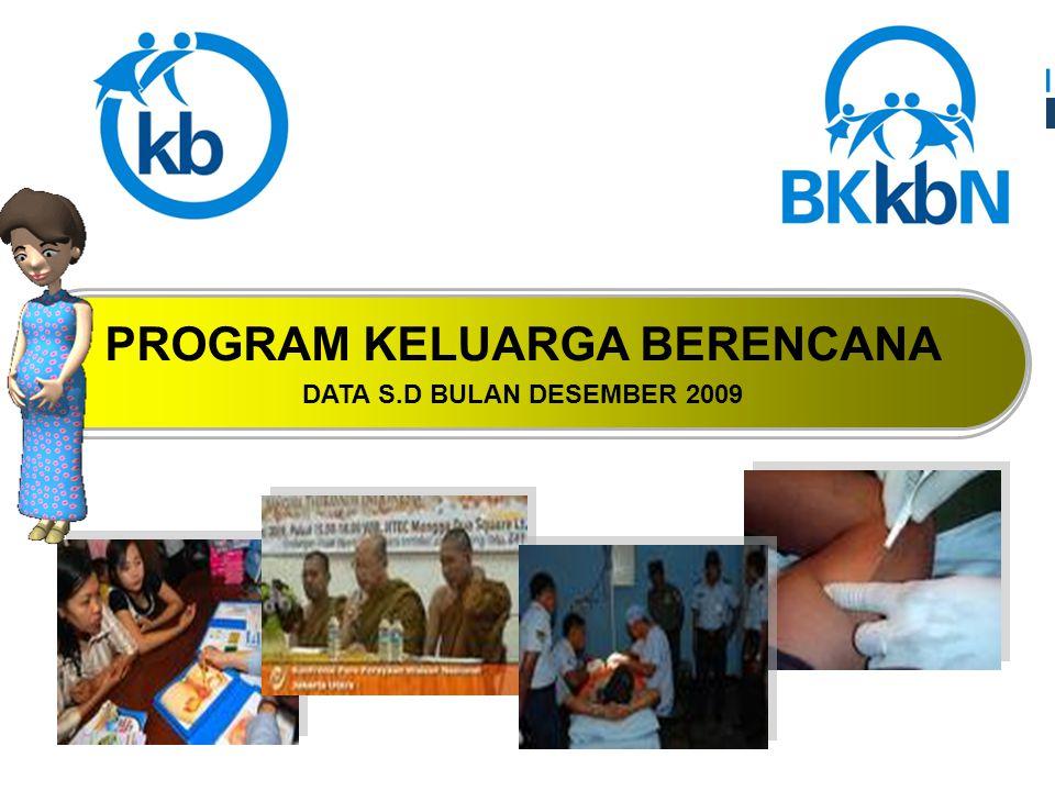 PROGRAM KELUARGA BERENCANA DATA S.D BULAN DESEMBER 2009