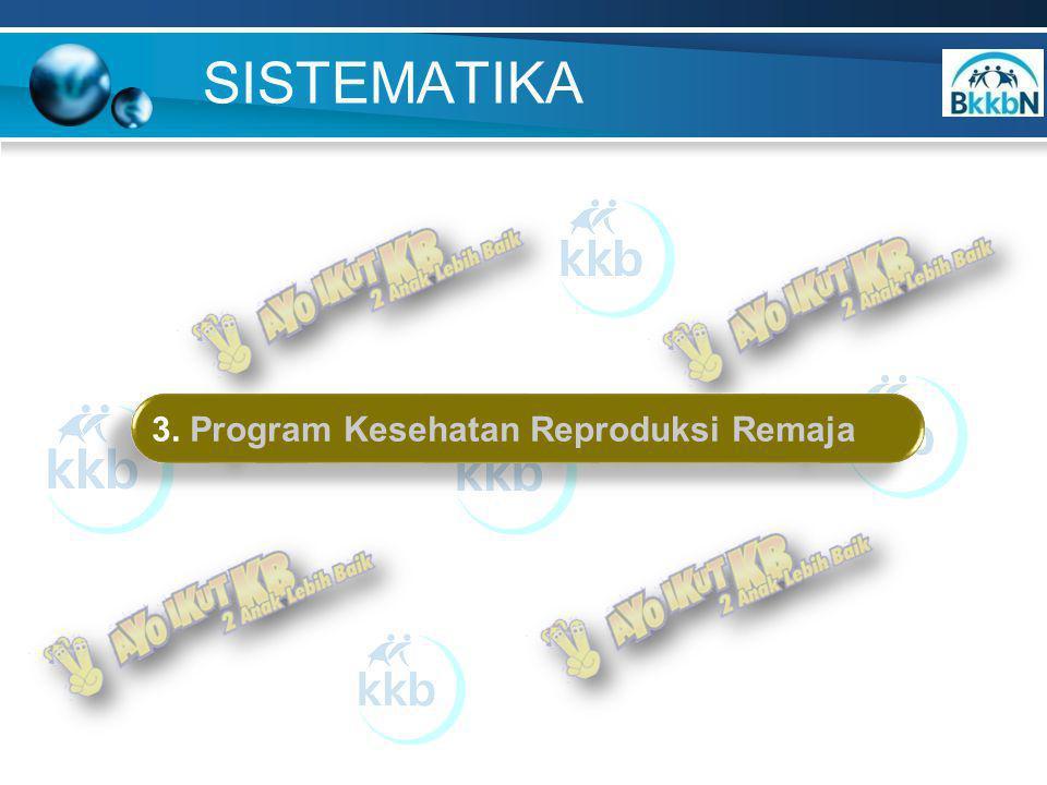 SISTEMATIKA 3. Program Kesehatan Reproduksi Remaja