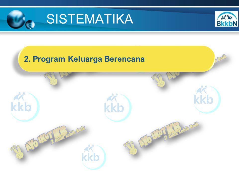 SISTEMATIKA 2. Program Keluarga Berencana