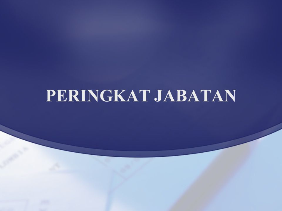 PERINGKAT JABATAN