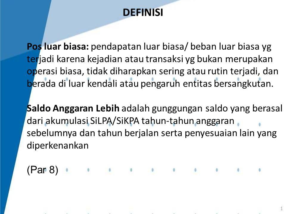 TANGGUNG JAWAB PELAPORAN KEUANGAN Tanggung jawab penyusunan dan penyajian laporan keuangan berada pada pimpinan entitas (Par 13)