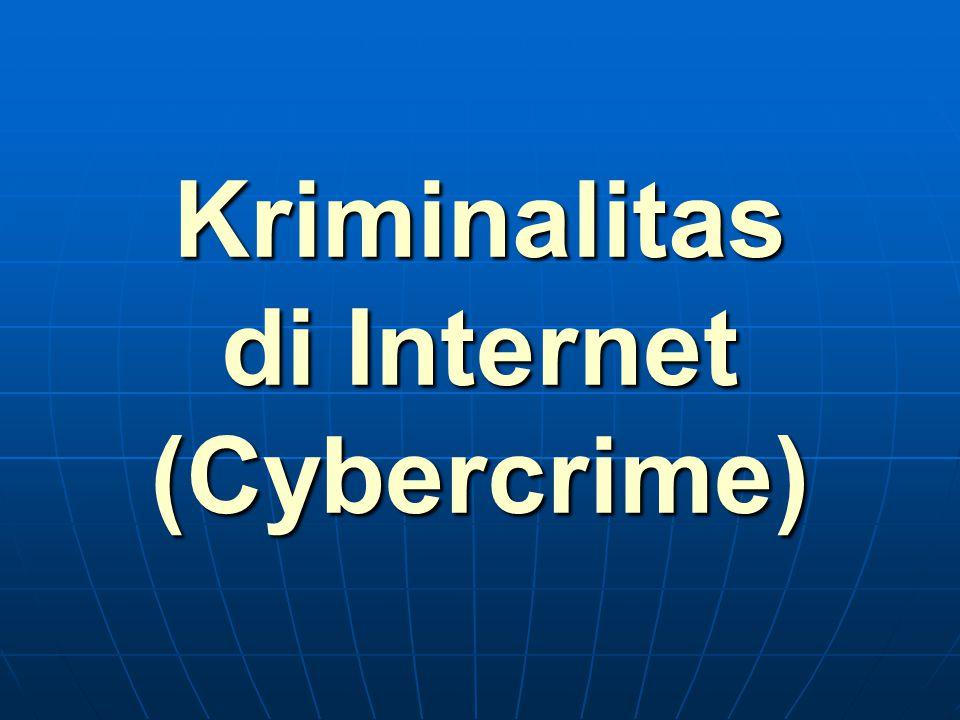 STUDI KASUS DIAMBIL DARI SUMBER: Freddy Harris Pengguna Internet – Praktisi Teoritisi Internet APRICOT Bali 2007