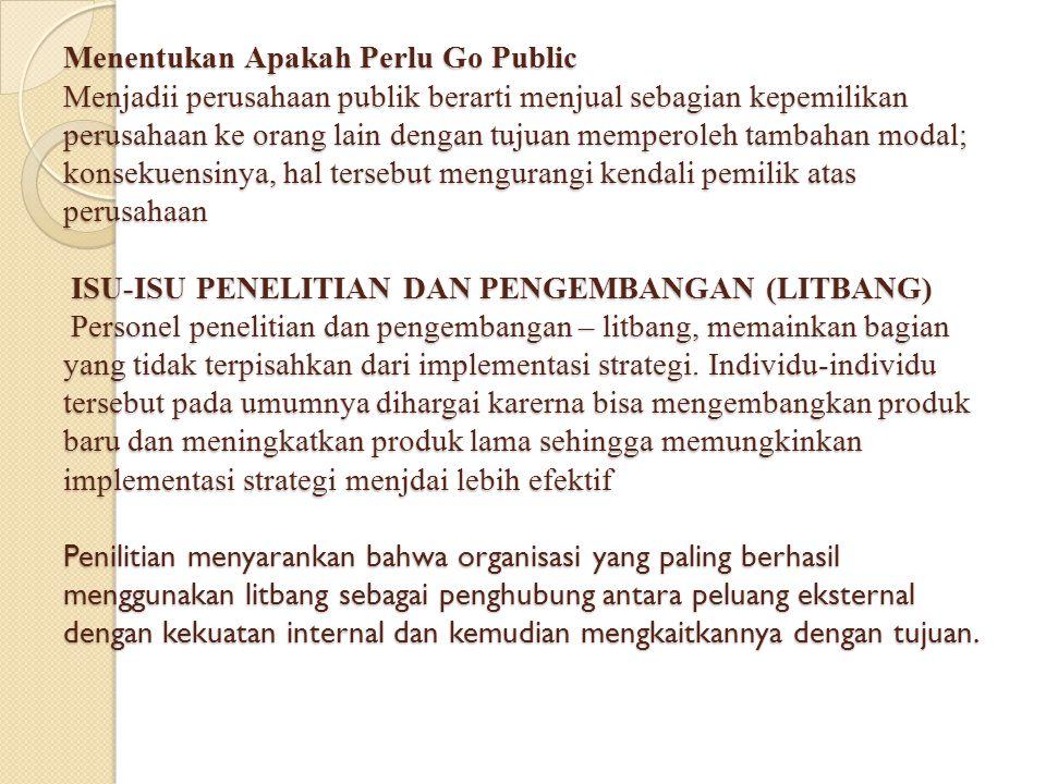 Menentukan Apakah Perlu Go Public Menjadii perusahaan publik berarti menjual sebagian kepemilikan perusahaan ke orang lain dengan tujuan memperoleh ta