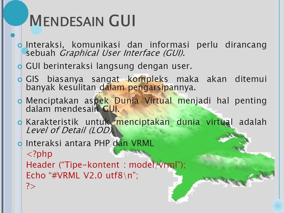 M ENDESAIN GUI Interaksi, komunikasi dan informasi perlu dirancang sebuah Graphical User Interface (GUI).