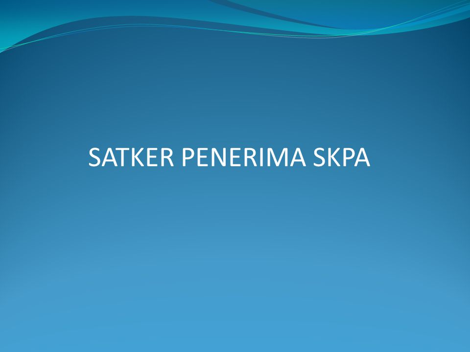 SATKER PENERIMA SKPA