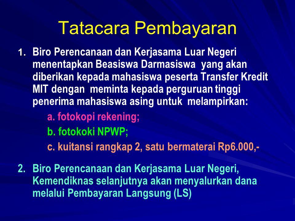 VISA   Visa yang dapat dipergunakan dalam mengikuti Pendidikan di Indonesia: a.