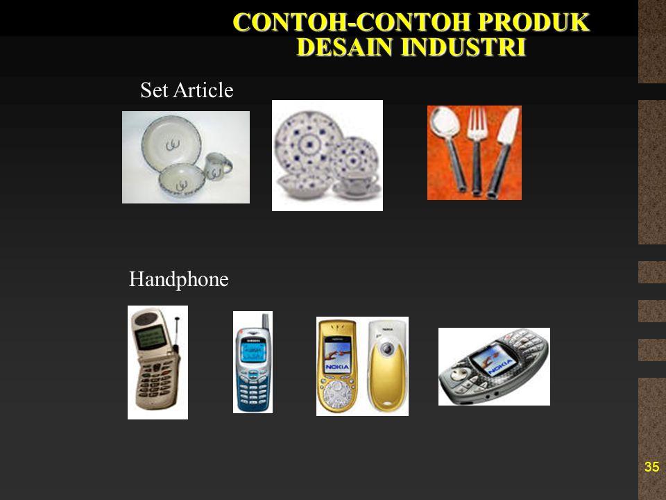 35 CONTOH-CONTOH PRODUK DESAIN INDUSTRI Set Article Handphone