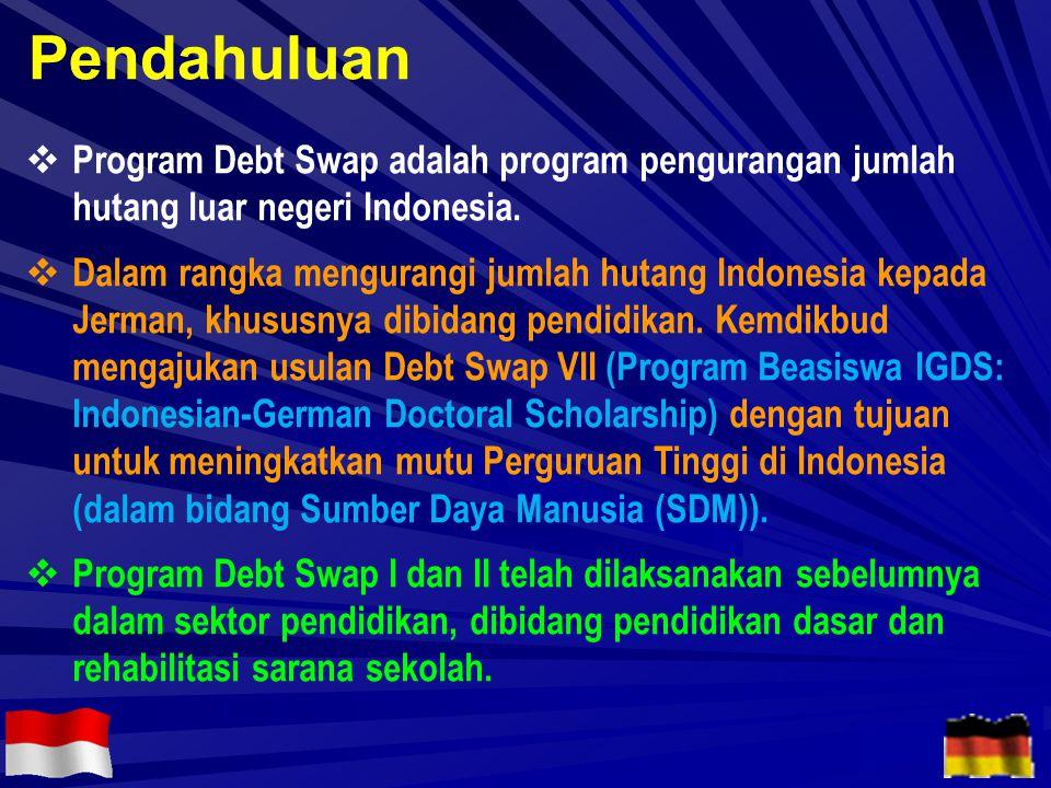  Program Debt Swap adalah program pengurangan jumlah hutang luar negeri Indonesia.