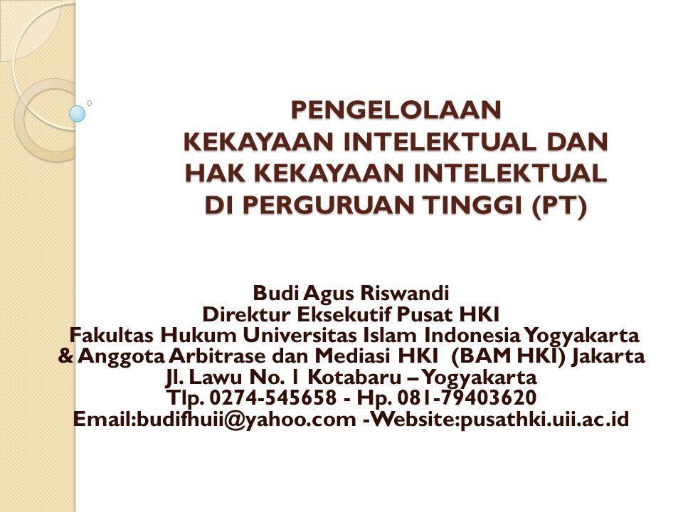 Kebijakan Edukasi KI/HKI Sentra HKI PengajaranPengabdian FTSP Kedokteran Farmasi & MIPA Teknik Lingk.