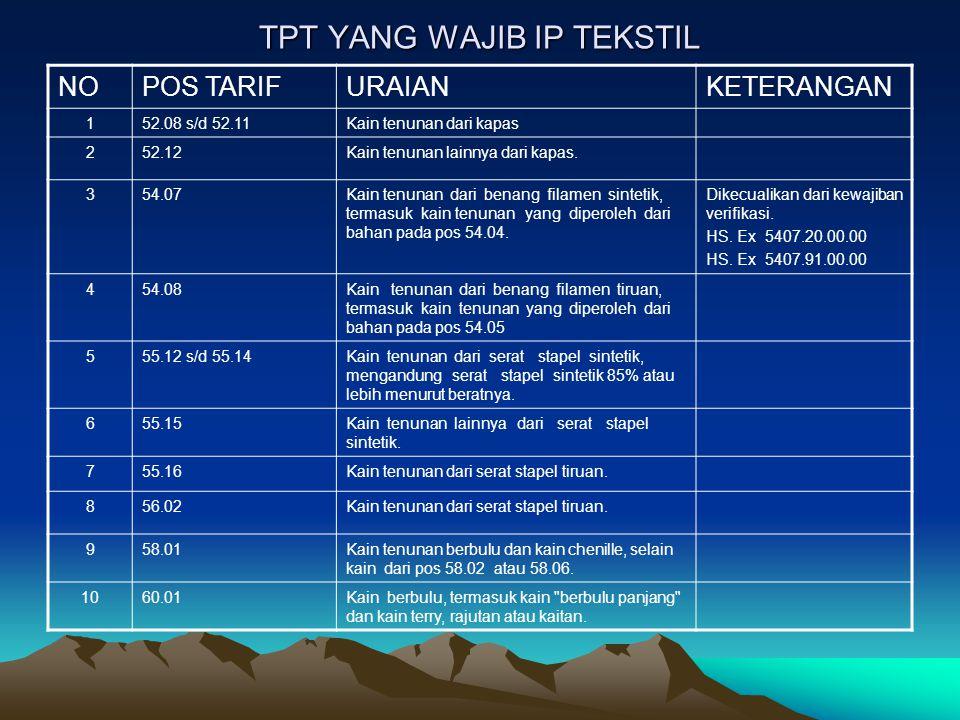 Penunjukan Surveyor Pelaksana Verifikasi / Penelusuran TPT  Surveyor sebagai Pelaksana Verifikasi atau Penelusuran Teknis Impor Tekstil dan Produk Tekstil (TPT) adalah PT.