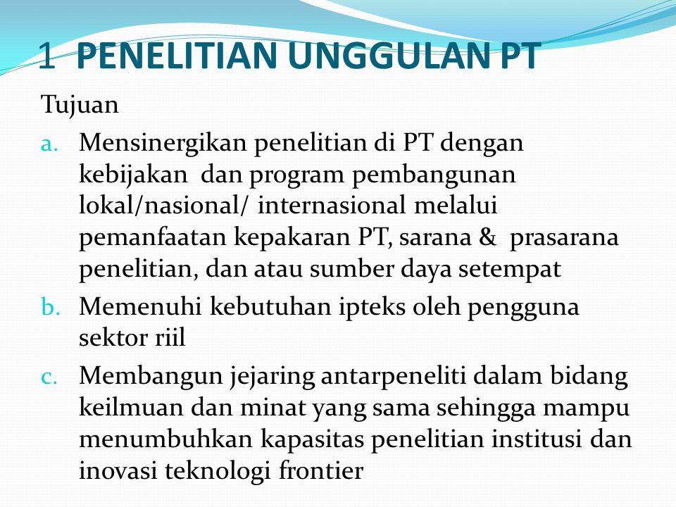 Kriteria a.Pengusul: dosen tetap di PTS Binaan b.