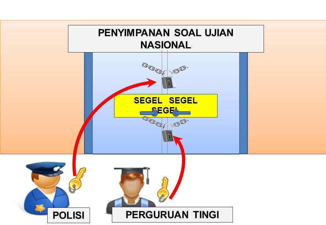 PENYIMPANAN SOAL UJIAN NASIONAL SEGEL SEGEL SEGEL POLISI PERGURUAN TINGI