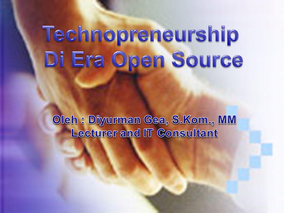 Technopreneurship Sebuah inkubator bisnis berbasis teknologi Menjadi seorang usahawan terdidik, mahasiswa akan berperan sebagai motor penggerak perekonomian melalui penciptaan lapangan- lapangan kerja baru.