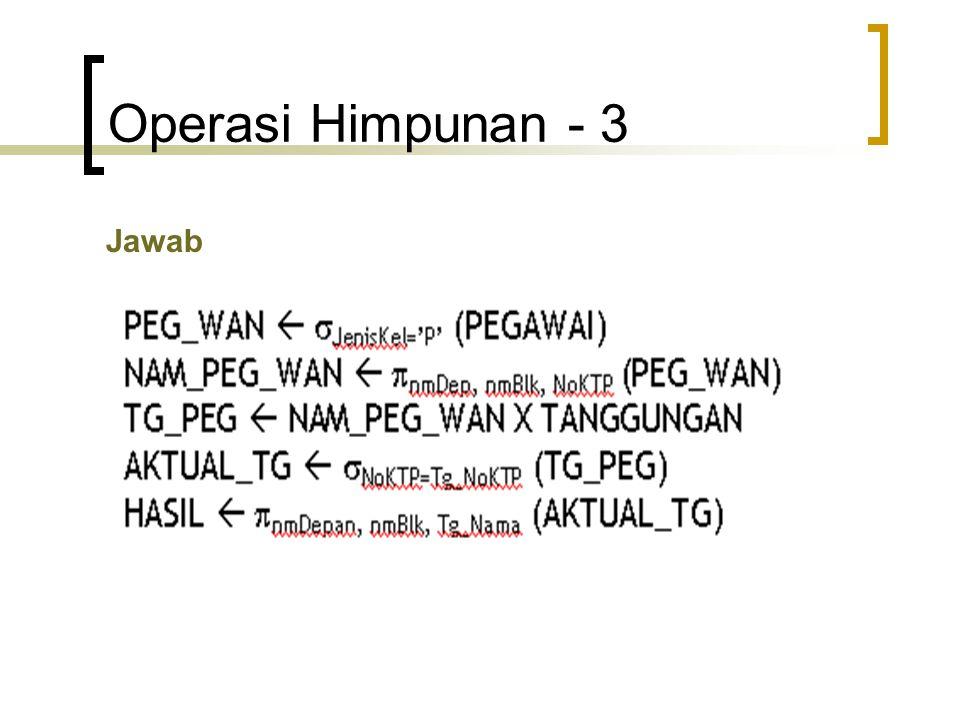 Operasi Himpunan - 3 Jawab
