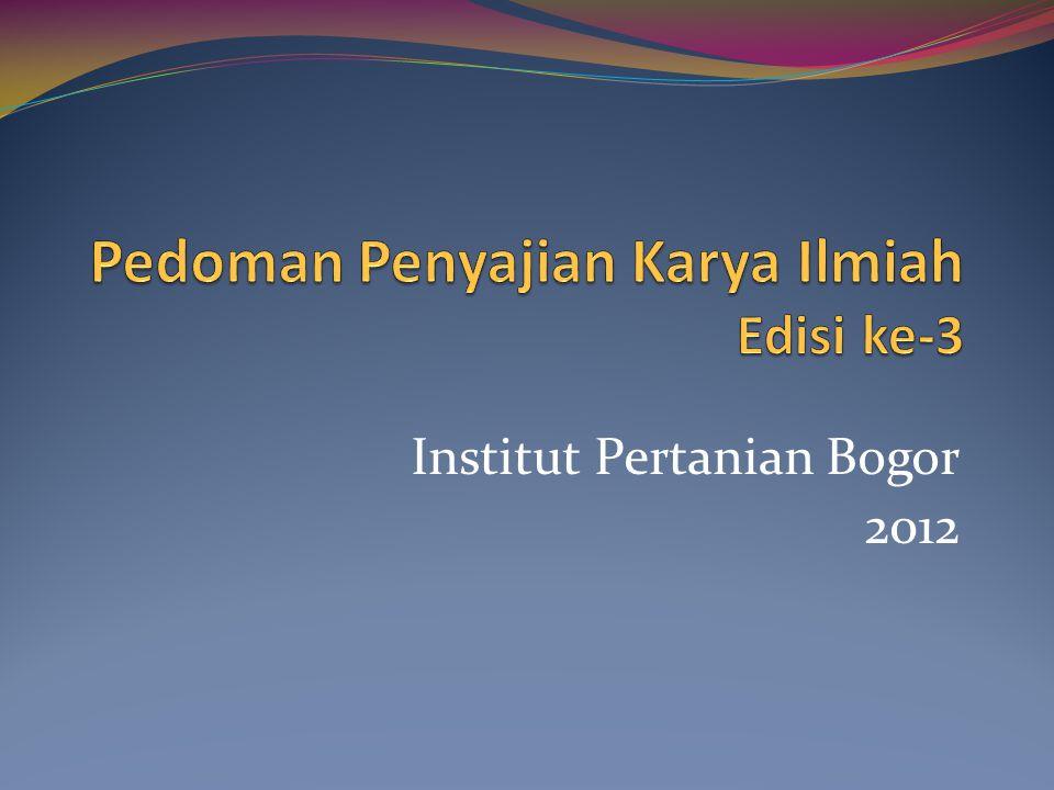 Institut Pertanian Bogor 2012