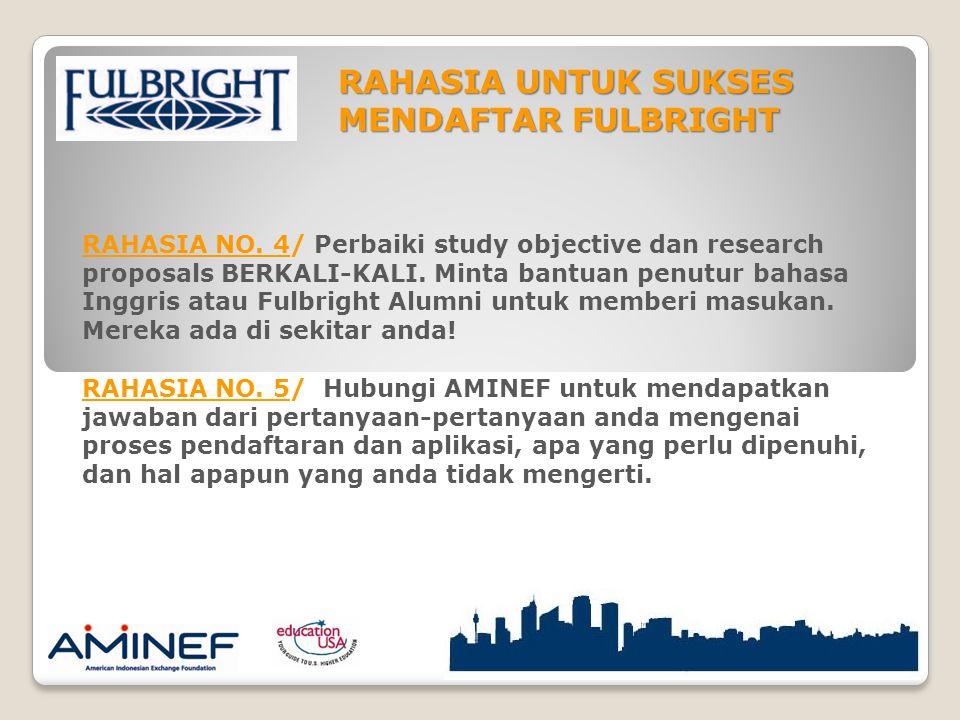 RAHASIA NO.4/ Perbaiki study objective dan research proposals BERKALI-KALI.