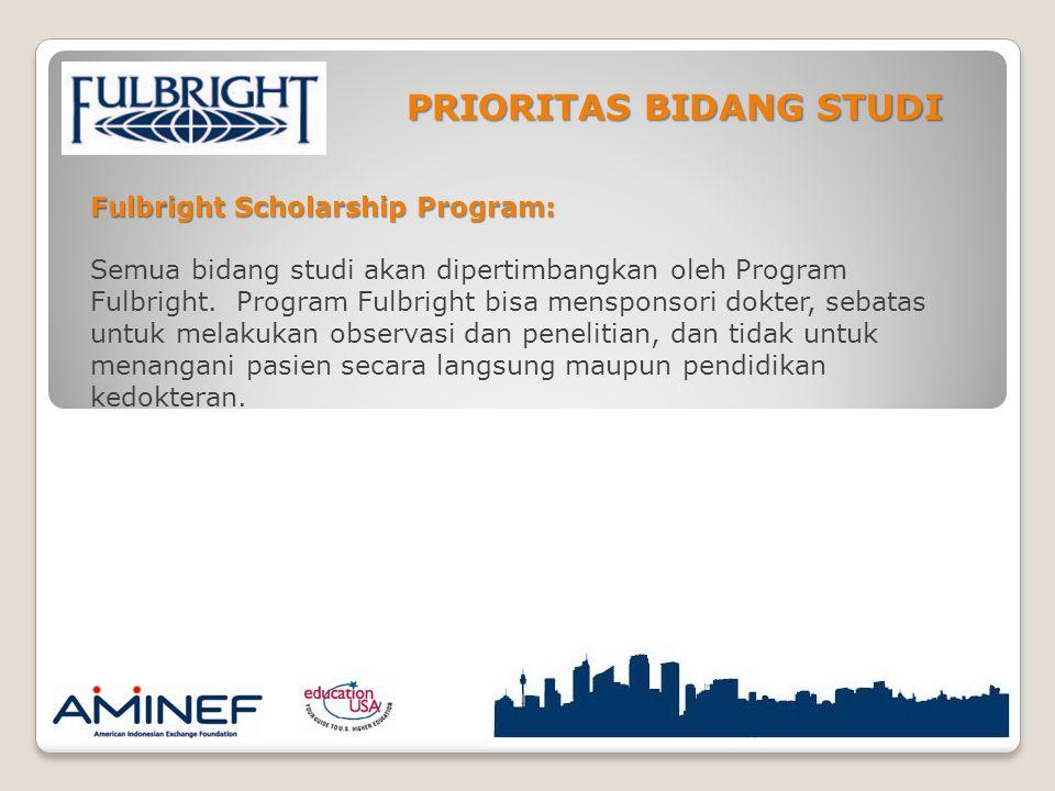 Fulbright Scholarship Program: Semua bidang studi akan dipertimbangkan oleh Program Fulbright.