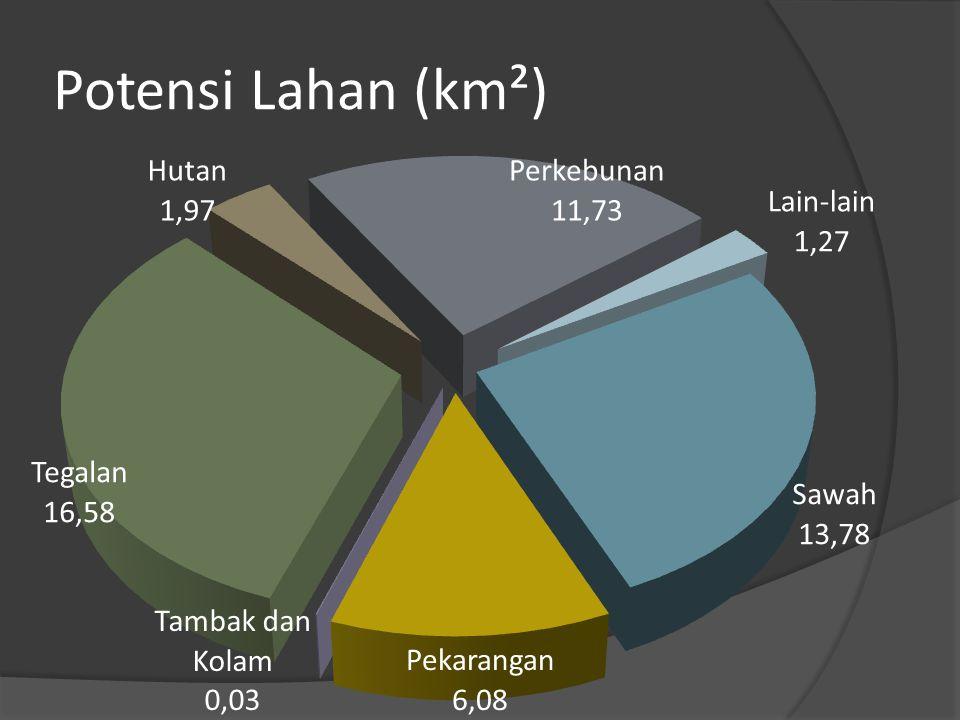 Potensi Lahan (km²)