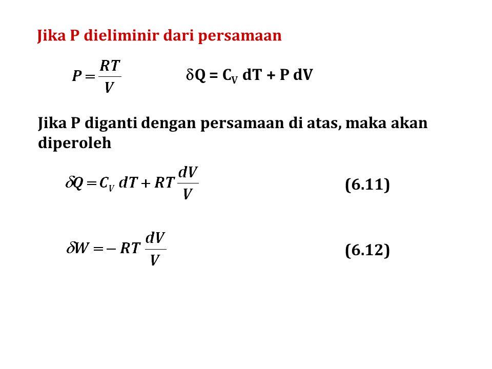 Jika V dieliminir dari persamaan (6.13) (6.14)