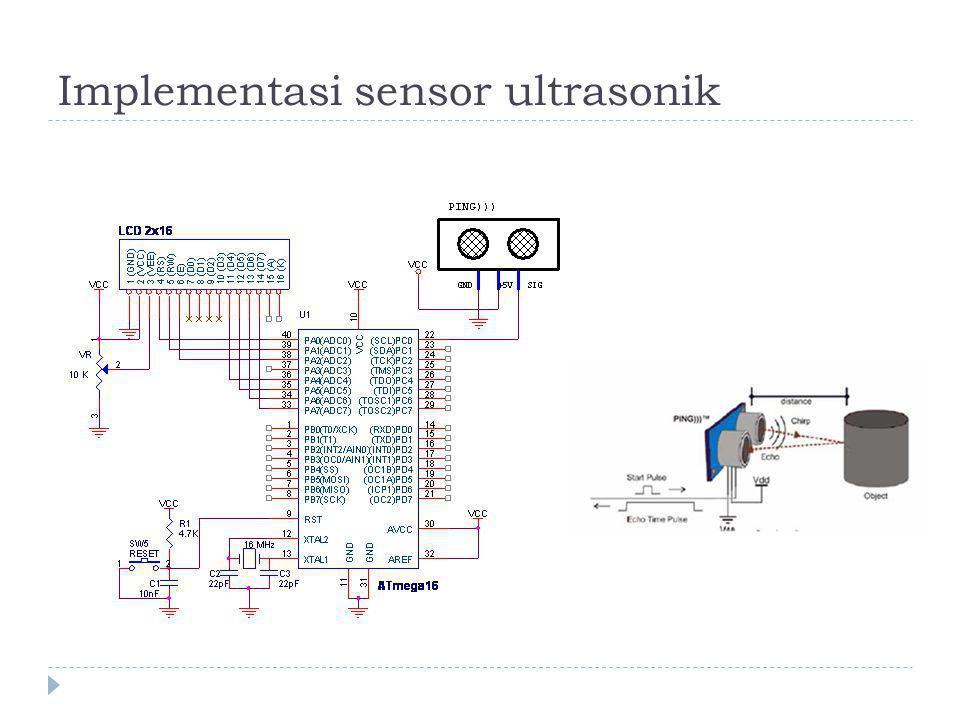 Implementasi sensor ultrasonik