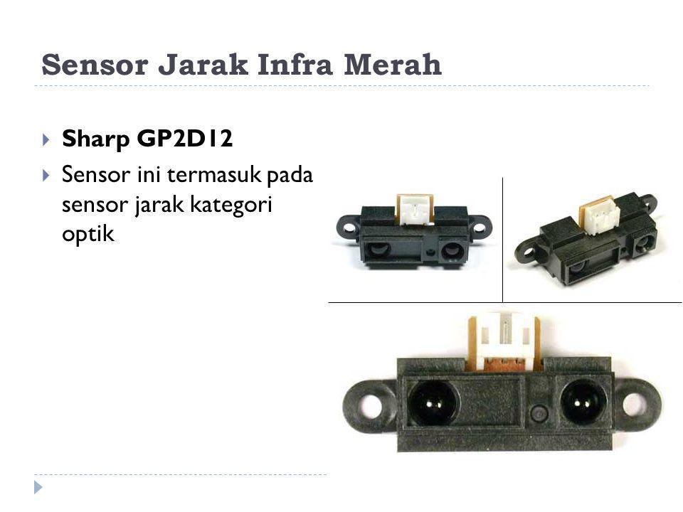 Sensor Jarak Infra Merah  Sharp GP2D12  Sensor ini termasuk pada sensor jarak kategori optik