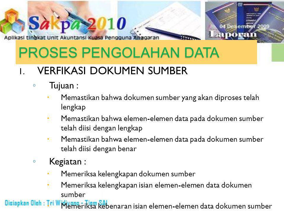 PROSES PENGOLAHAN DATA 1.