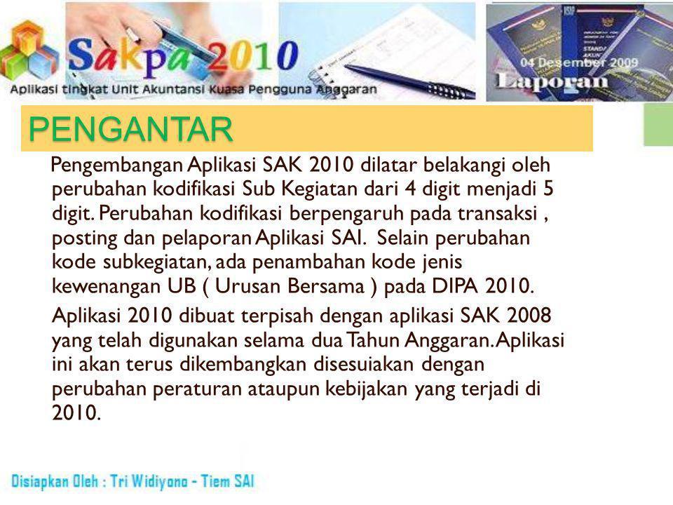 Langkah-Langkah Penggunaan Aplikasi 2010 1.