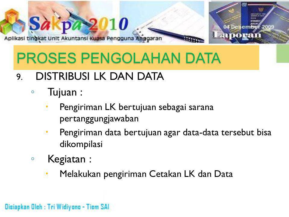 PROSES PENGOLAHAN DATA 9.