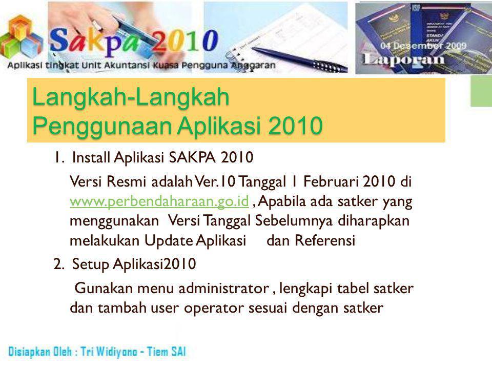 Langkah-Langkah Penggunaan Aplikasi 2010 3.