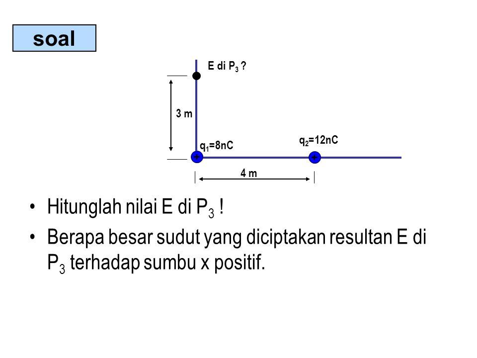 Hitunglah nilai E di P 3 .