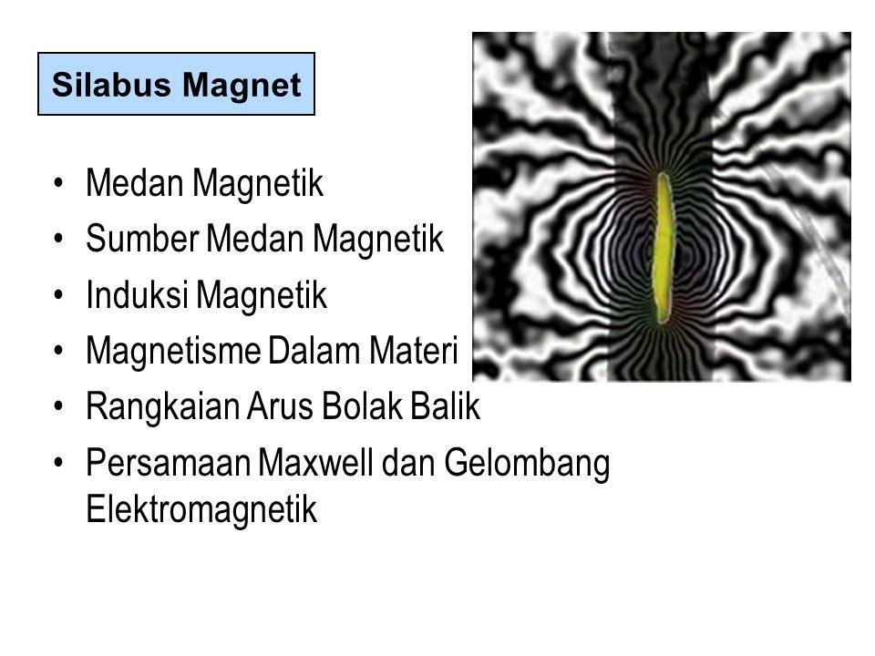 Medan Magnetik Sumber Medan Magnetik Induksi Magnetik Magnetisme Dalam Materi Rangkaian Arus Bolak Balik Persamaan Maxwell dan Gelombang Elektromagnetik Silabus Magnet