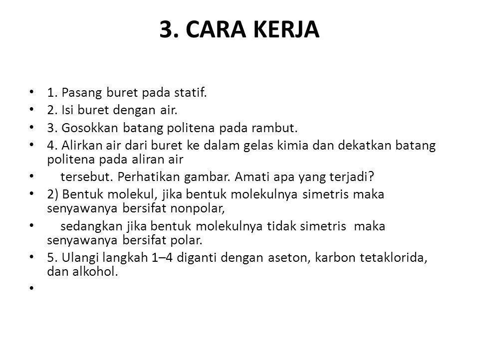 4.HASIL PENGAMATAN 1. Air (Belok / Tidak Belok ) 2.