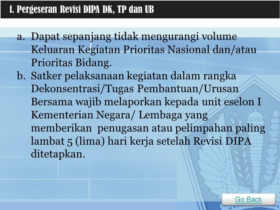a.Dapat sepanjang tidak mengurangi volume Keluaran Kegiatan Prioritas Nasional dan/atau Prioritas Bidang.