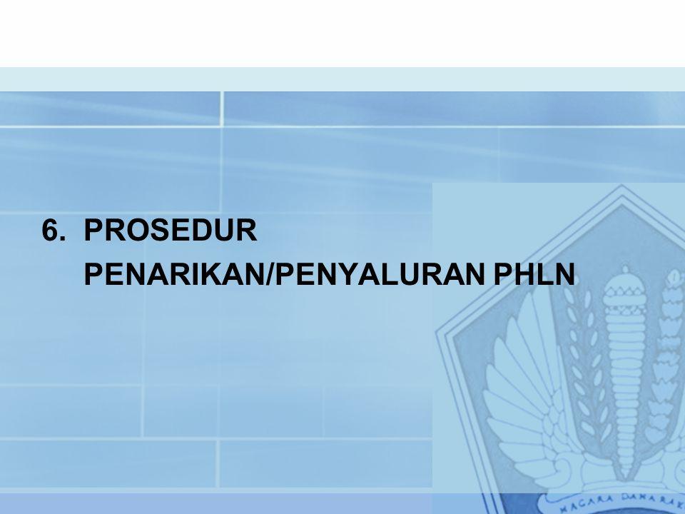 6. PROSEDUR PENARIKAN/PENYALURAN PHLN