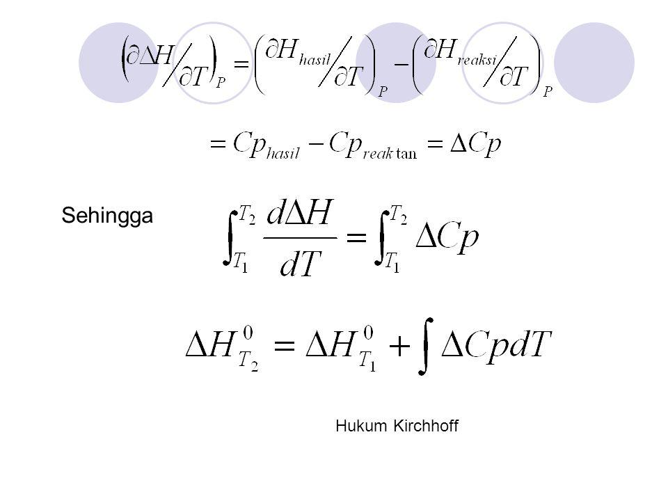Sehingga Hukum Kirchhoff