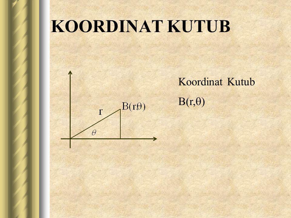 KOORDINAT KUTUB Koordinat Kutub B(r,  )