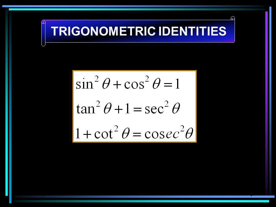 henny TRIGONOMETRIC IDENTITIES