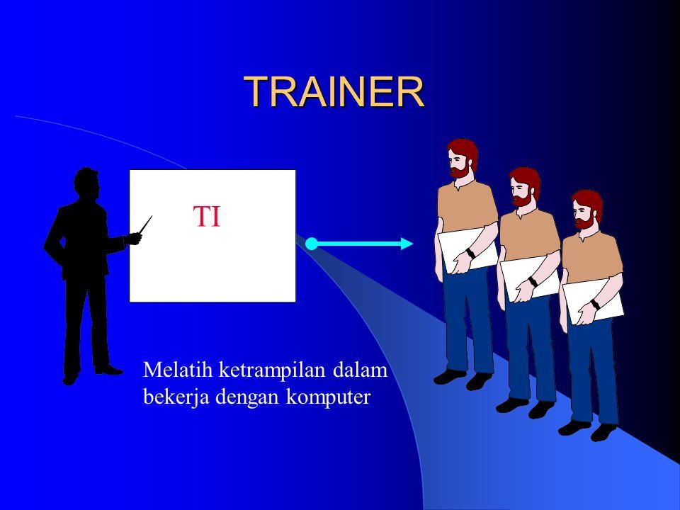 TRAINER TI Melatih ketrampilan dalam bekerja dengan komputer