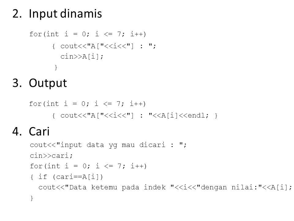 5.Edit cout<< \n\nAnda ingin merubah elemen array .